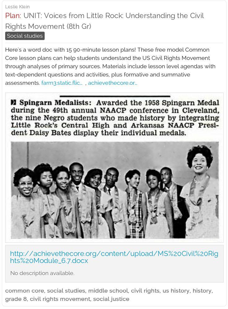 The civil rights movement lesson plan