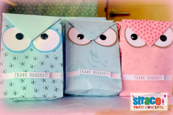 Owl Party Set-up by Strace Party Concepts: Personalized Lootbag