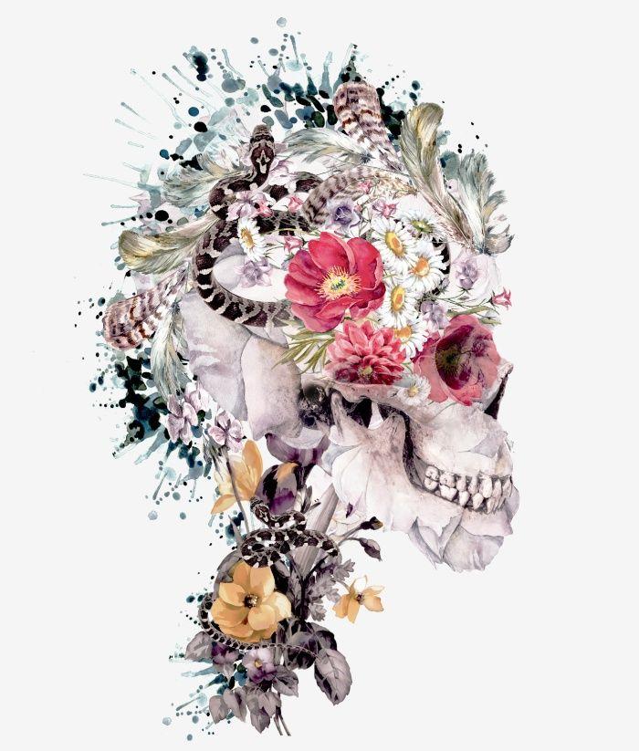 Momento Mori X Art Print #skull #art