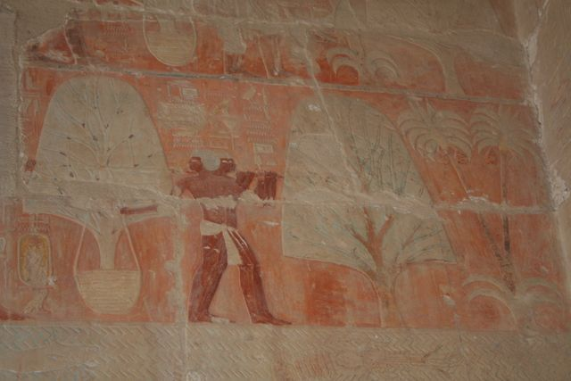 inside the temple of Hatshepsut