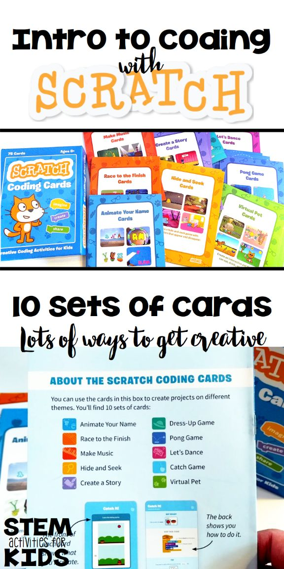 We tried and LOVED these Scratch Coding Cards! Simple to use and lots of different activities to try. Great intro to programming activity for kids ages 7-10. | STEM Activities for Kids