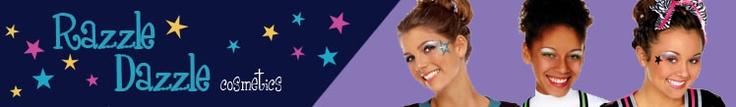 www.razzledazzlecosmetics.com    Great cheer make-up & glitter tattoo kits