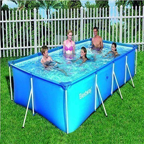 Large rectangular 5700l family garden swimming paddling for Family garden pool