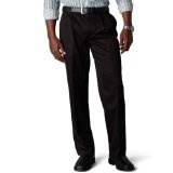 Dockers Men's Signature Khaki D3 Classic Fit Pleated Pant, Black, 40x29 (Apparel)By Dockers