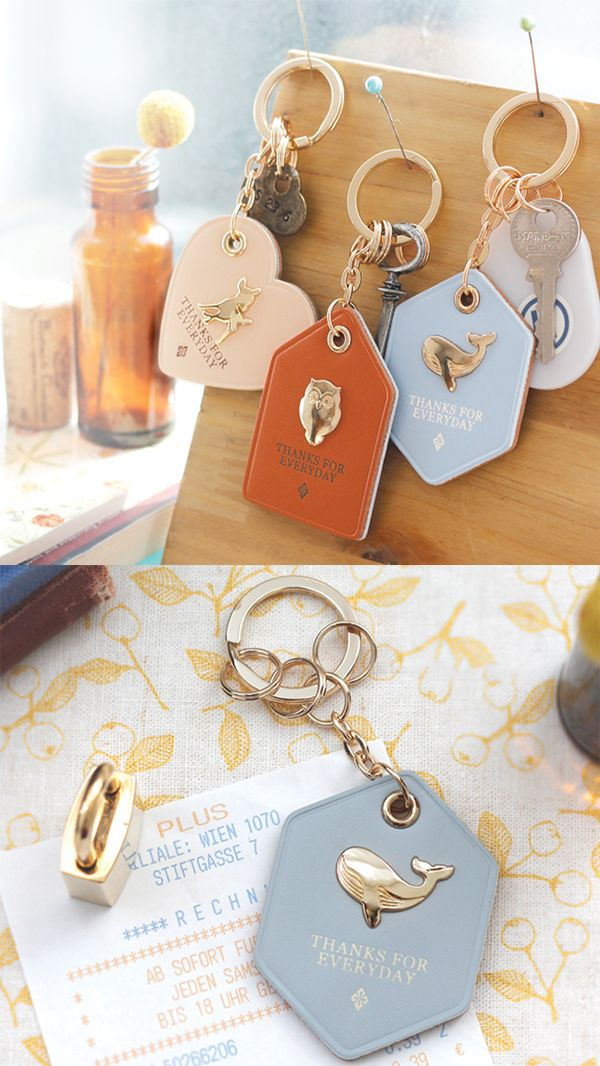 Wow. A key holder made of genuine leather that's super cute AND classy? Yes, please!