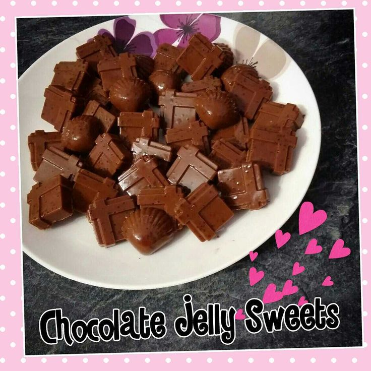 Chocolate jelly sweets