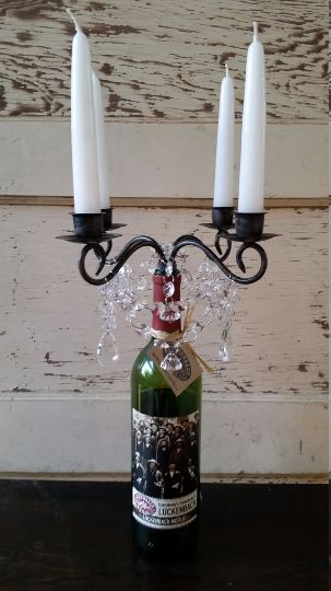 Candelabra Chandelier for Wine Bottle $40 (includes free domestic shipping)