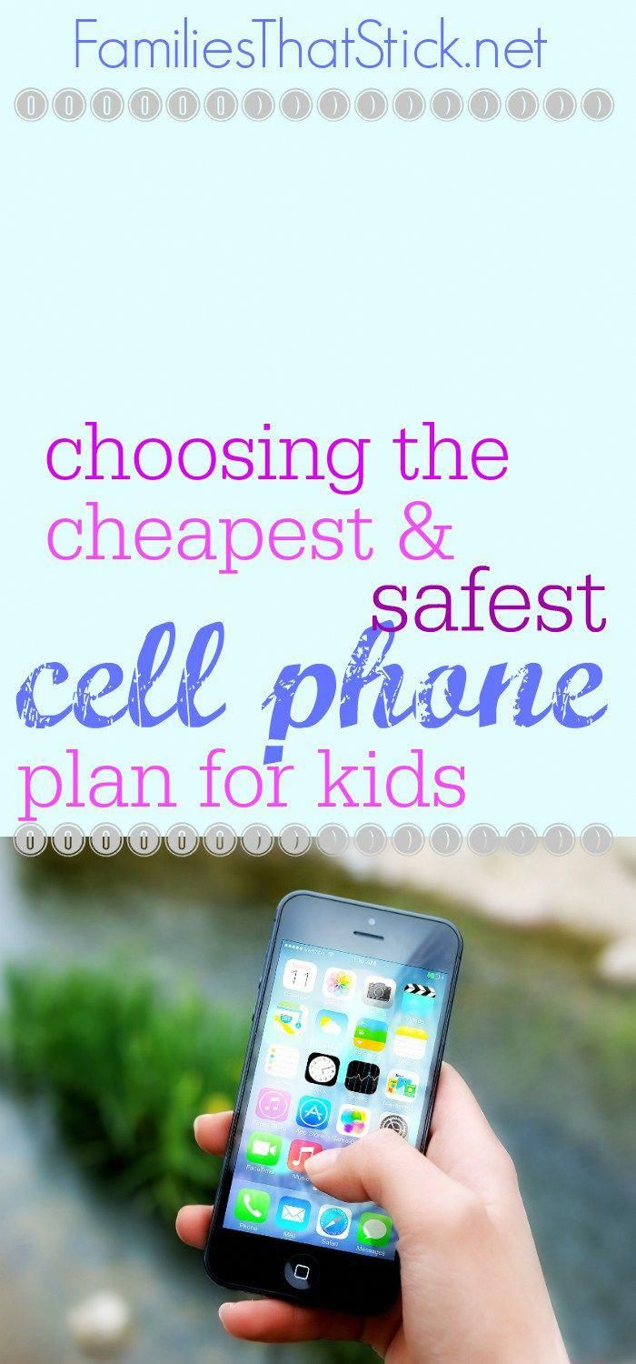 Want a cell phone plan for your child but don't want the huge