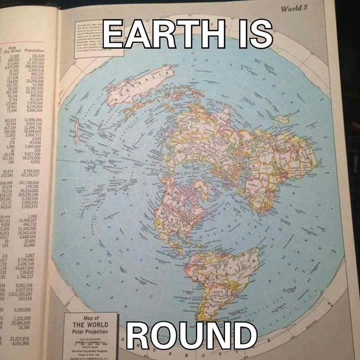 """Yes, the Earth IS """"round"""" - round like a disc, not round like a ball! It's a """"round"""", flat circle inside a square! #flatearth #theearth #antarctica"""