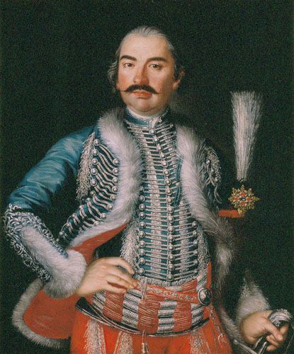 Painter in Hungary, Mid-18th C. Portrait of Count Ferenc Károlyi   Oil , Canvas  88,5 x 74 cm  Inv.: 60.4M