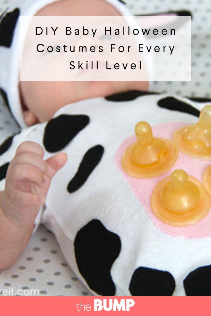 Baby cow belle DIY Halloween costume idea for baby