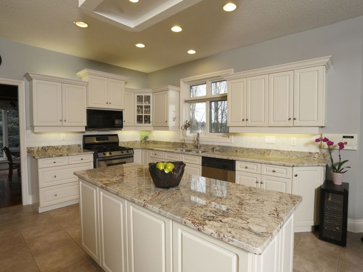 Beautiful Santa Cecilia Light Granite #7 - Kitchens With Brown Cupboards Kitchens With Sienna Beige