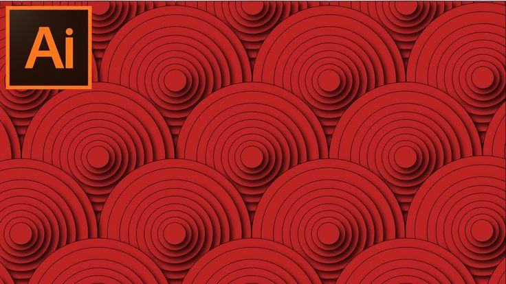 Adobe Illustrator CC - Tutorial How to Create a Beautiful Circular Abstr...