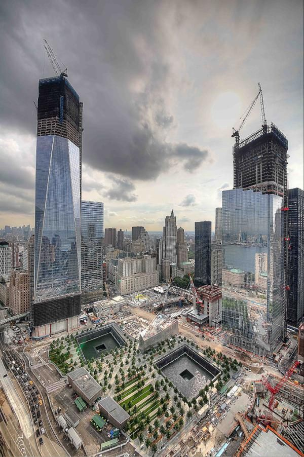 WTC Memorial and New Buildings  Honoring The Victims following the collapse of #WorldTradeCenter Twin Towers (Two of the 4 Targets of #911) Remembering and Honoring the Heroes of 9-11-2001