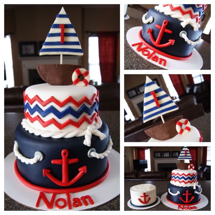 Nautical theme cake and smash cake