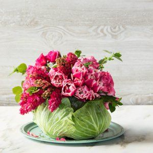 DIY Cabbage Flower Centerpiece | on SouthernLiving.com