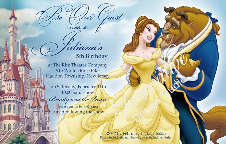 Beauty And The Beast Themed Wedding Invitations: Beauty And The Beast Wedding Invitations -