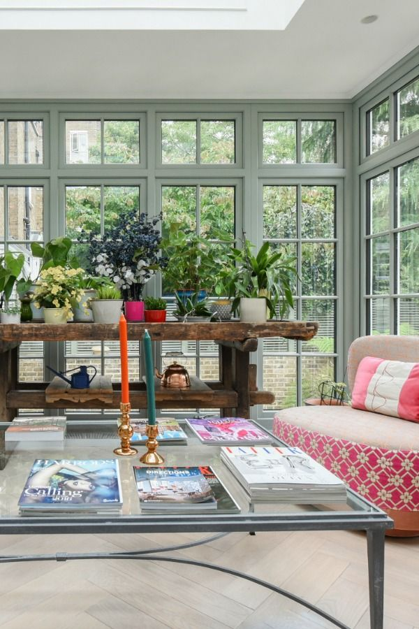 New conservatory in a sympathetic conversion of a Regency house