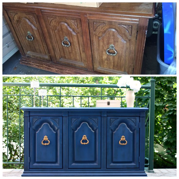 Antique  Vintage  Shabby Chic  Rustic  Navy Blue  Dark Blue Buffet. 33 best Shabby Chic  Distressed Furniture  DIY  Before Afters  by