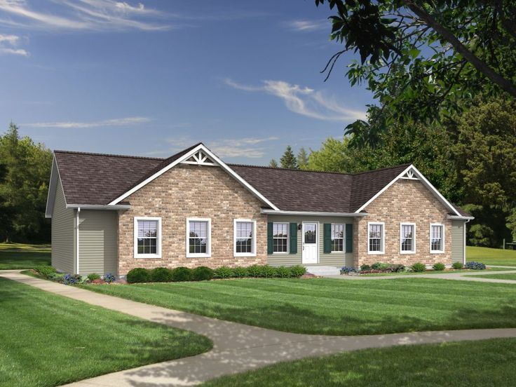 The burlington rj518a rockbridge modular ranch home a for Accent homes floor plans
