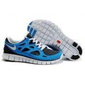 Nike Free Run+2 Loopschoenen Zwart Blauw Wit