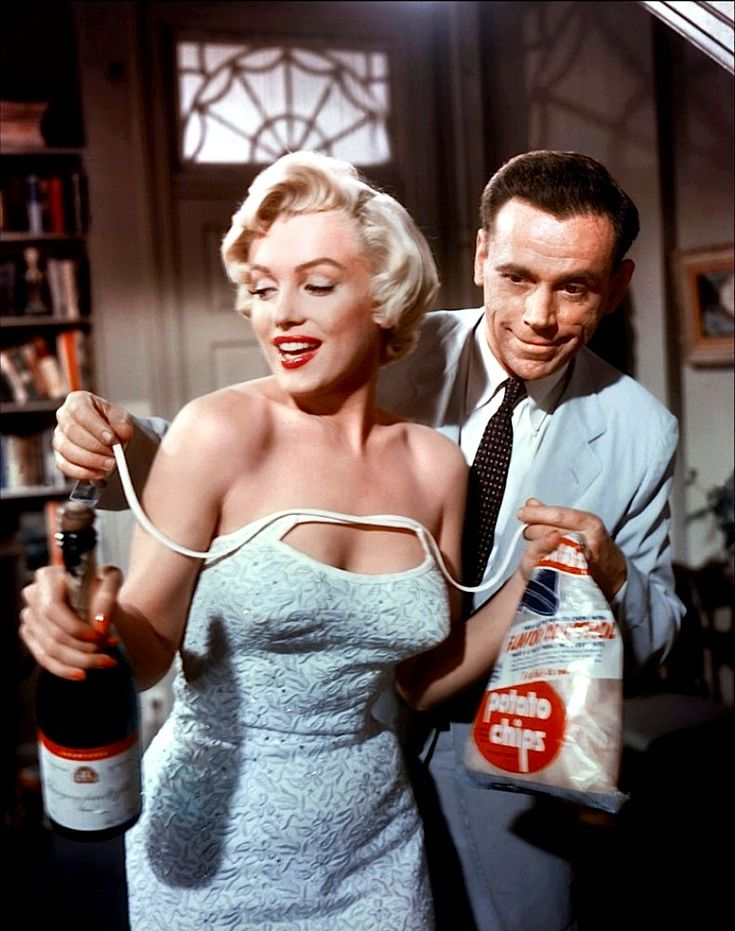 "Marilyn Monroe and Tom Ewell in ""The Seven Year Itch."""