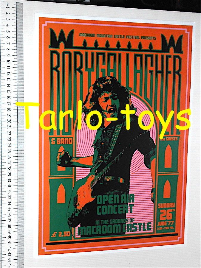 RORY GALLAGHER - Macroom Ireland - 26 june 1977 - concert poster