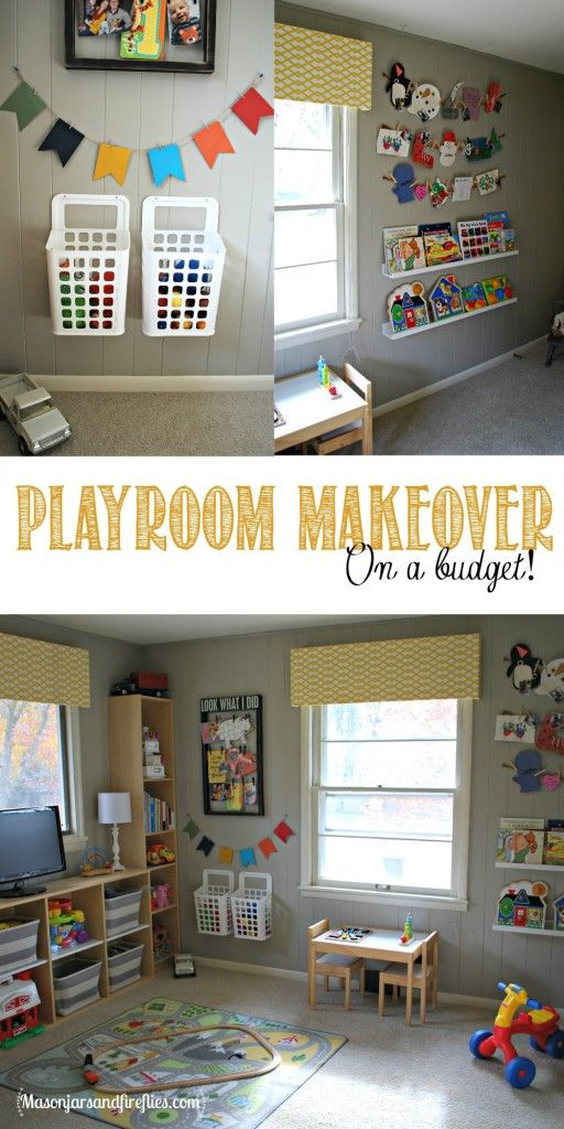 Playroom Makeover On A Budget By Www Masonjarsandfireflies
