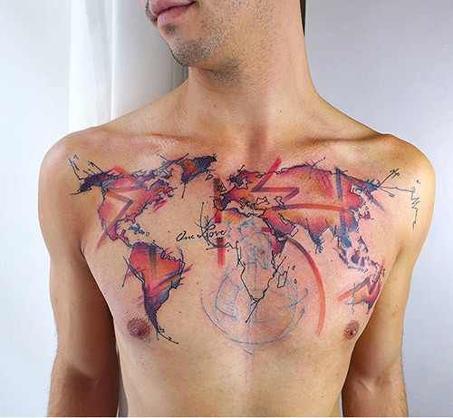 119 best tattoo images on pinterest small tats small tattoo view best world map sleeve tattoo images gumiabroncs Gallery