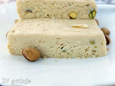 Di gotuje: Chałwa sezamowa z pasty tahini (z pistacjami i pła...