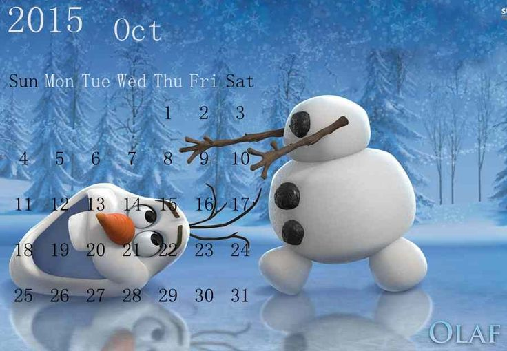 Diy Funny Olaf Frozen Tree New Year Calendar Templates - 2015