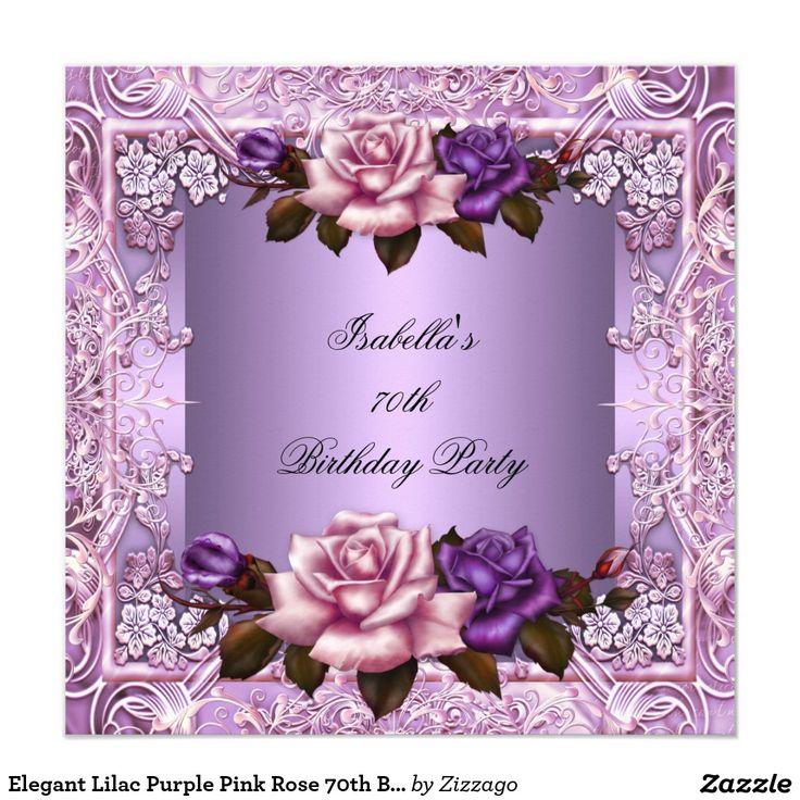 Fiesta de cumpleaños color de rosa rosada púrpura