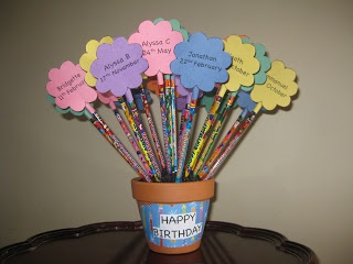 Blogging, Teaching and Second Grade... Oh My!  Birthday Pencils