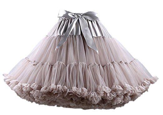 Honeystore Tanzkleid Ballettrock Kinder Mädchen Damen Tutu Rock Schleife Pettiskirt für Show Party Cosplay Mehrfarbig One Size: Amazon.de: Bekleidung