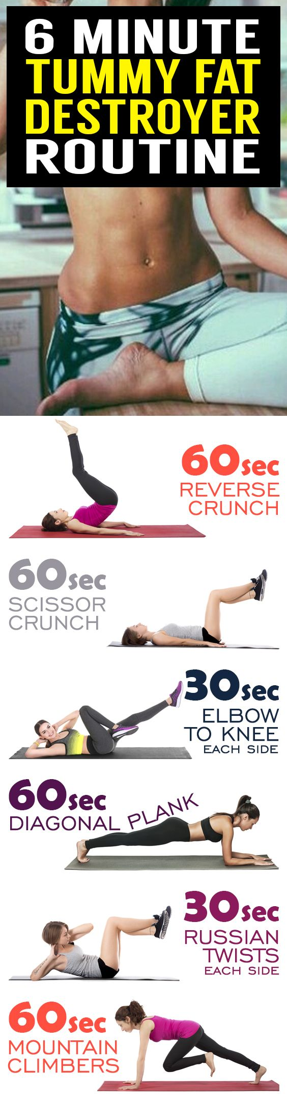 Summer's here and the heat is on to tighten up your tummy for the pool or beach. If you want your belly to be bikini-ready fast you need exercises that engage all your abdominal muscles. This killer tummy-cinching routine works magic on muffin tops and th http://healthyquickly.com