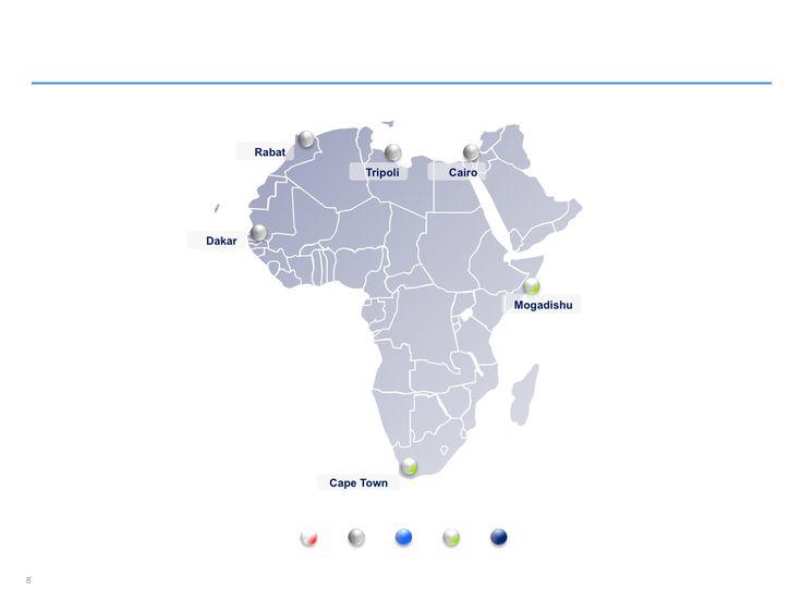 Descarga ahora Mapas de África editables en Power Point