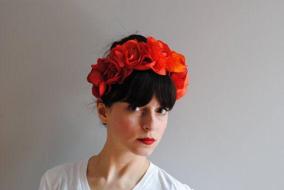 Frida floral headband by CIAO NINA by CIAONINA on Etsy, $98.00