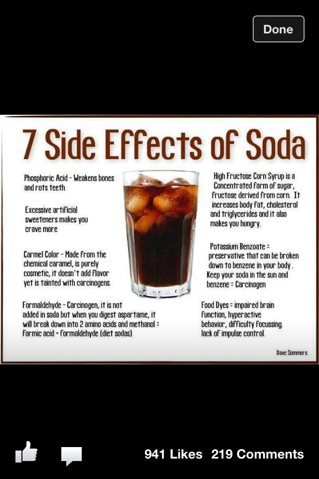the effects of soda pop on With our country's passion for pop, let's take a look ten of the worst side effects associated with drinking too much soda tooth decay unless you plan on brushing each time you finish your drink, soda will wreck havoc on your pearly whites.
