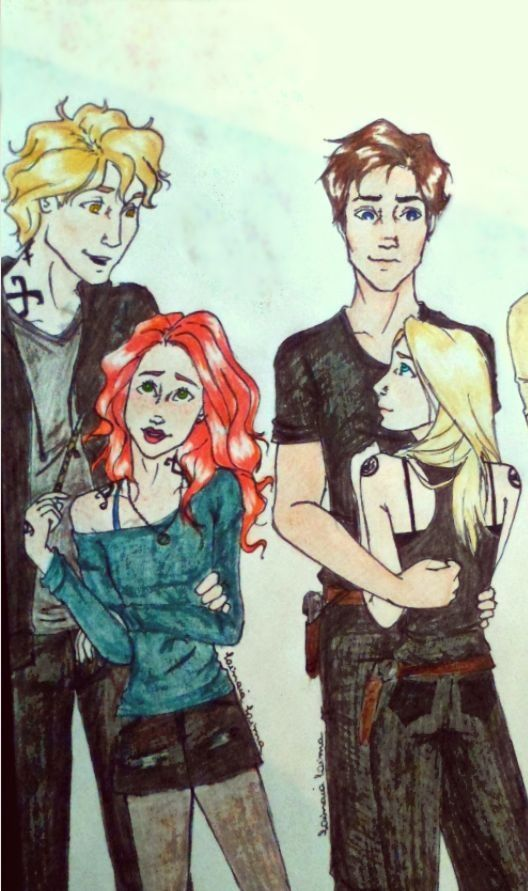 Tris and Tobias, and Jace and Clary