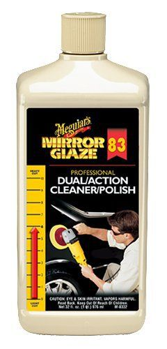 Meguiars Mirror Glaze M83 Double Action Cleaner Polisher Lustrant machines Moyen 946 ml: Combines abrasive cleaner and pure, rich polish…