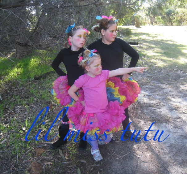 Frilly Floss Rainbow Pixie Tutu    SENSATIONAL , FRILLY & BRIGHT ... can be worn reversible Size 7-12 GIRLS ** if the size you would like is not here ... please contact LMT