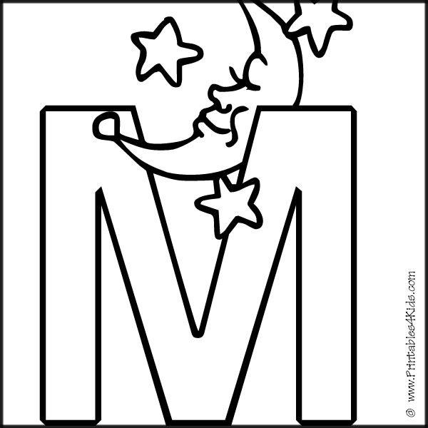 m preschool coloring pages - photo#27