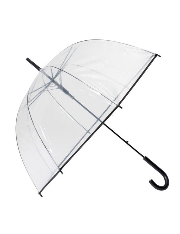 Parapluie transparent, 7,99 euros, Gemo - Tendance : la rentrée en mode 60's et 70's - Voici