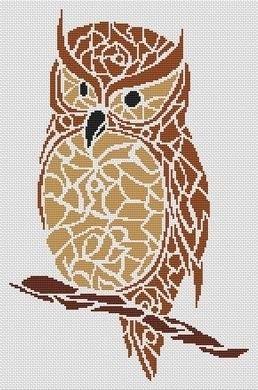 Tribal Turtle Free Cross Stitch Pattern