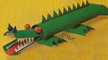 krokodil van wc rollen