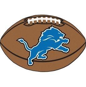 Detroit Lions football shaped mat