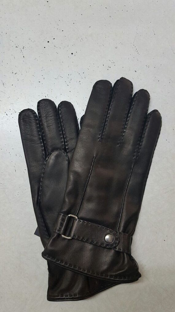 Men's leather gloves/elegant style/soft leather/100 %