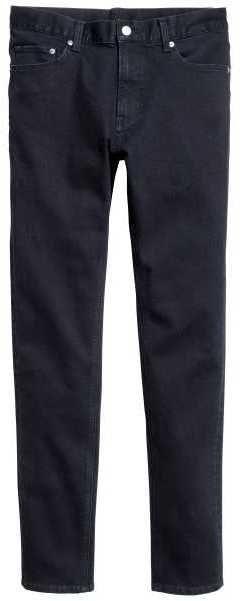 H&M - Skinny Low Jeans - Dark denim blue - Men