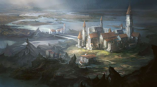 Magic the gathering lands art pinterest the - Magic land wallpaper ...