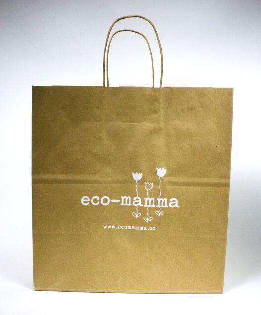 Recyklovatelná firemní papírová taška s potiskem